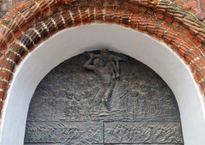 Wismar: Nordostportal St. Georgen, Tympanon