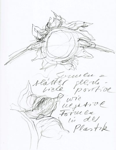 Skizze zur Sonne im Ortstor Löchgau
