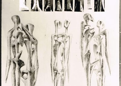 Karl-Henning Seemann: Zeichnungsentwurf zu einem Auschwitzdenkmal