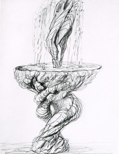 Entwurfszeichnung für den Lebensbrunnen