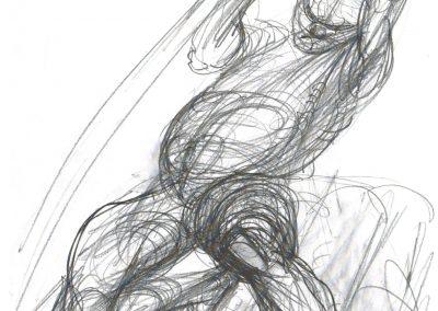 Entwurfszeichnung zum Flößerbrunnen in Bissingen