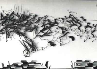 Reiterschlacht, Stahlrelief