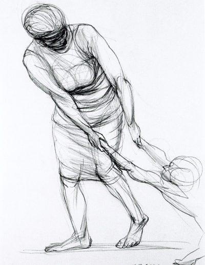 Zeichnung Mutter und Kind (I)
