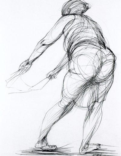 Zeichnung Mutter und Kind (II)