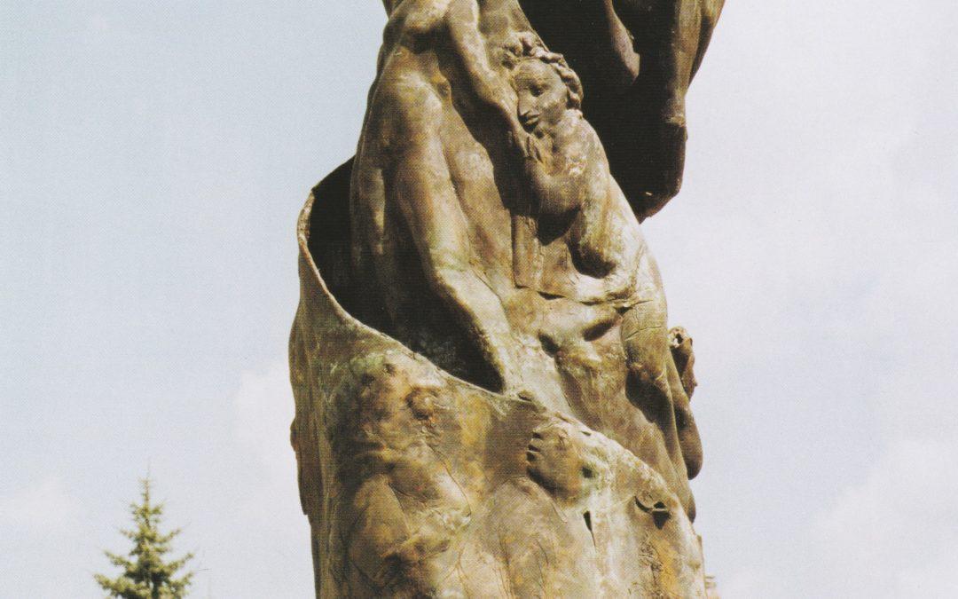 Dresden: Geschichtsspirale mit August dem Starken