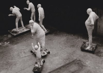 Figurengruppe Freiburg im Atelier