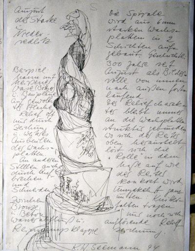 Entwurfsskizze für die Geschichtsspirale