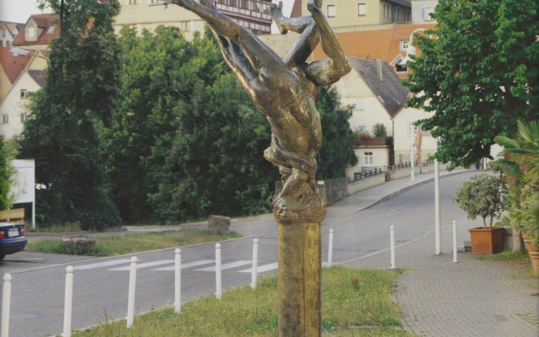 """Besigheim: Brunnen """"Vereinigung von Neckar und Enz"""""""